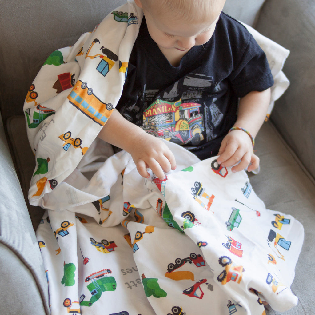 Construction Trucks Blanket