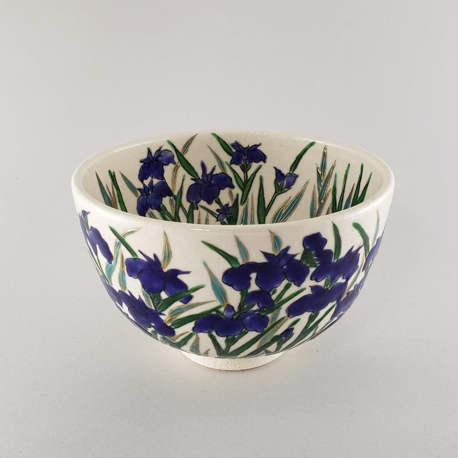 Matcha bowl  IRIS FLOWER