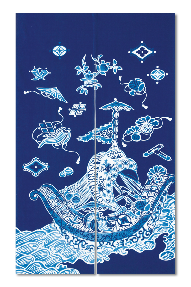 Aizome Noren (Japanese Style Door Curtain)