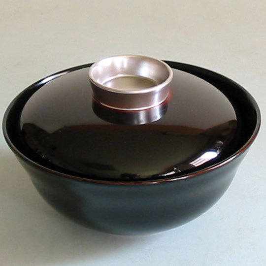 black urushi soup bowl for zoni