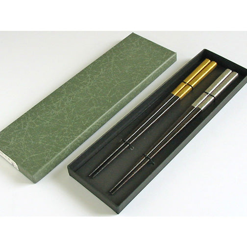FU-FU CHOPSTICKS - GOLD & SILVER  (2pair)