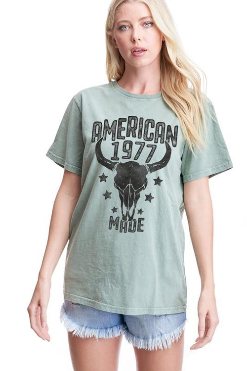 American Made Graphic Tee - Sage