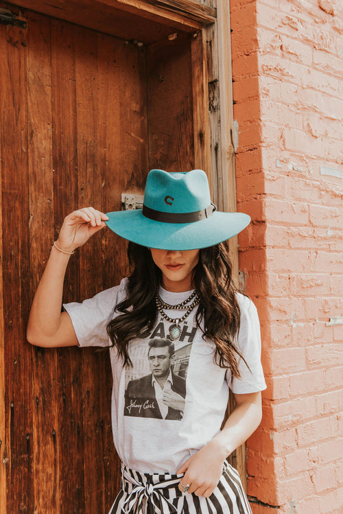 Charlie 1 Horse Hat - Highway (Teal)