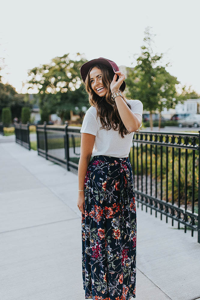 Split Up Maxi Skirt