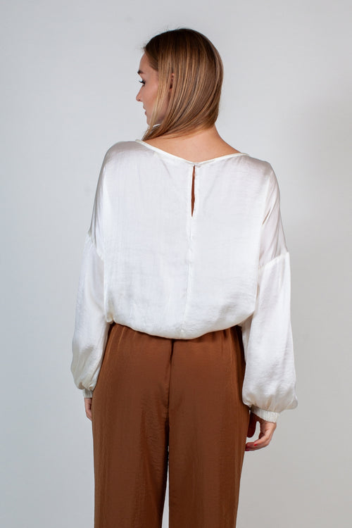 The Smooth Talker Blouse - White