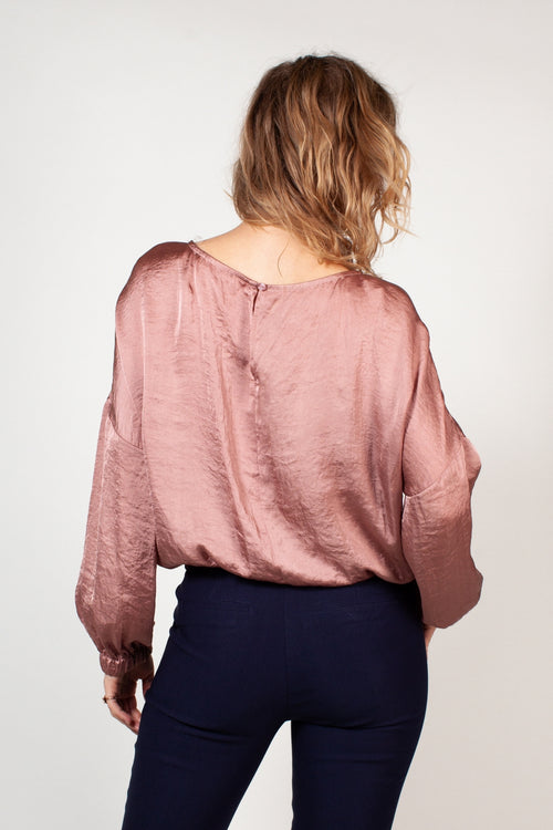 The Smooth Talker Blouse - Mauve