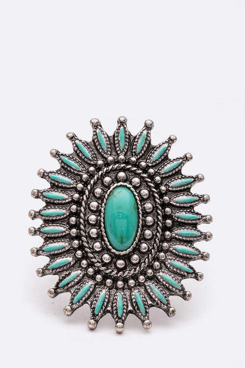 Spiney Turquoise Ring