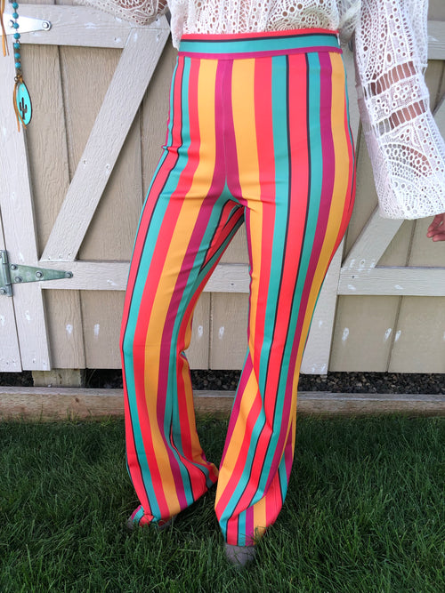 Caribbean Sunset Flare Pants
