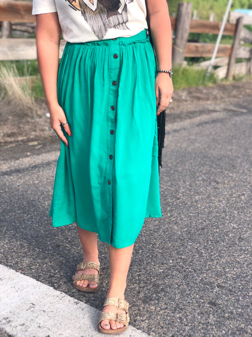 Take Me To Church Midi Skirt