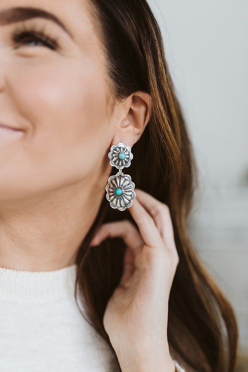 The Gallop Post Turquoise Earrings