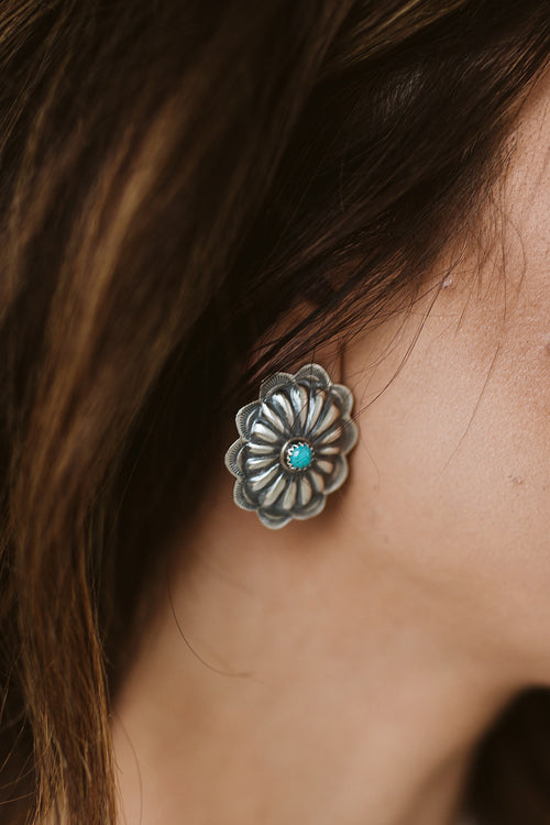 The Gallop Single Post Turquoise Earrings