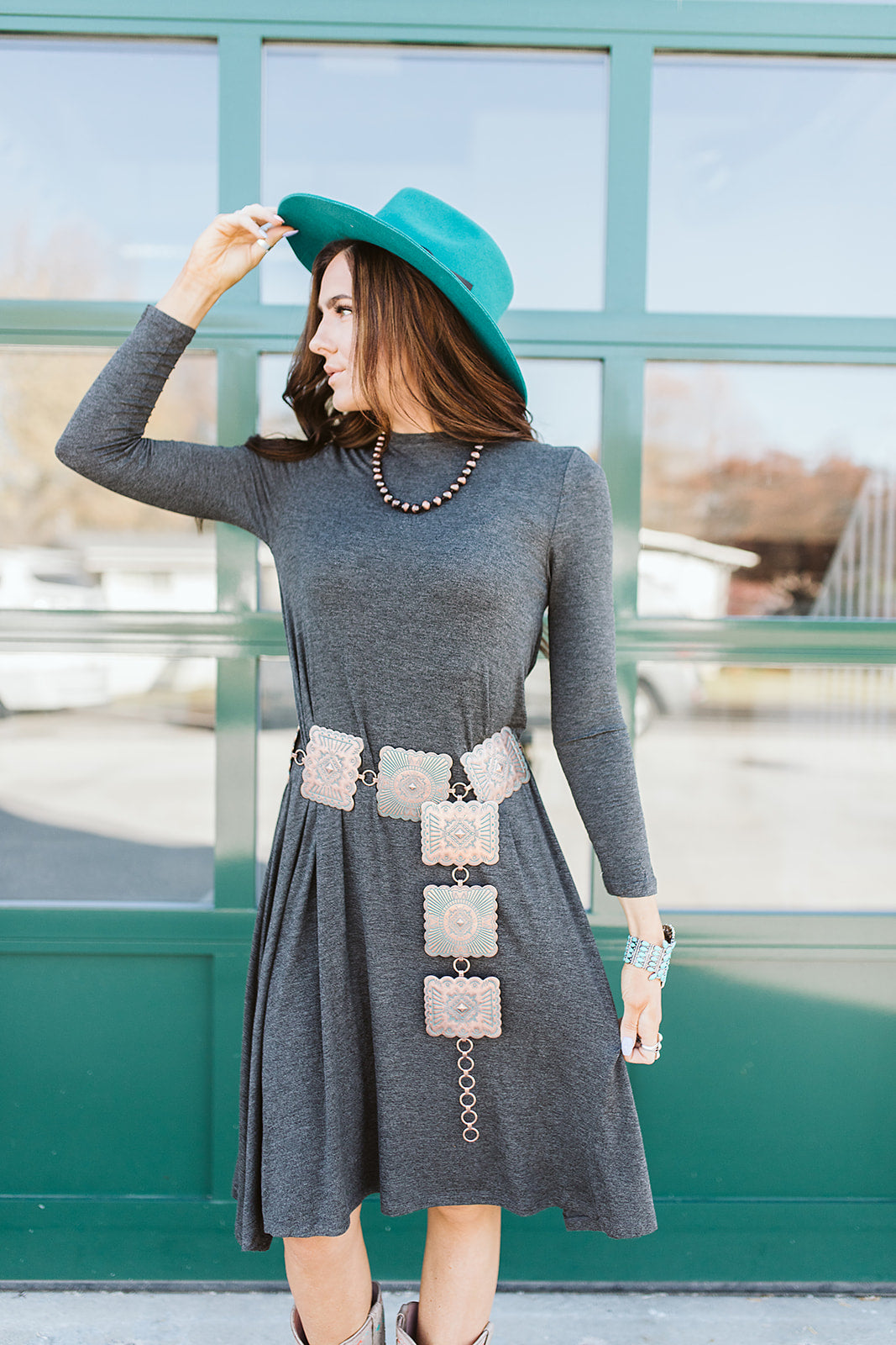 Simply Put Charcoal Dress