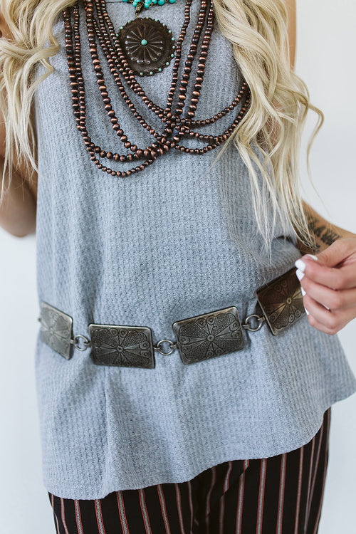 Metal Square Chain Link Belt