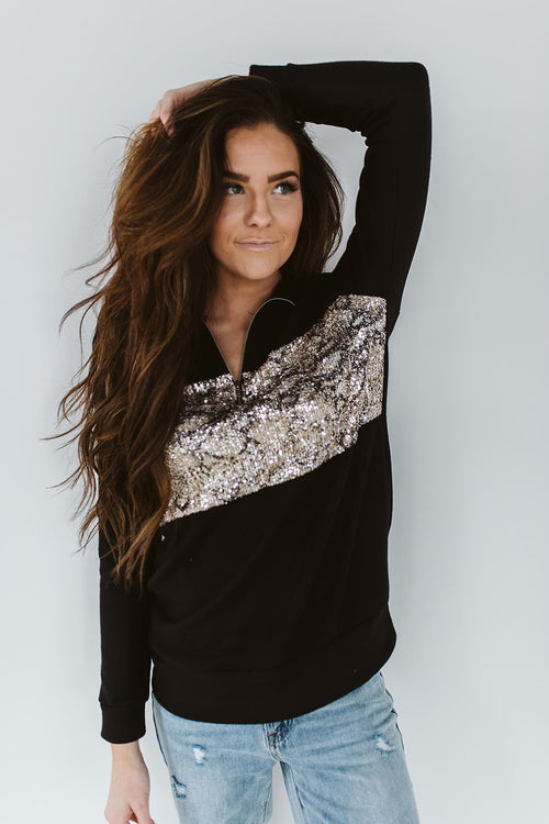 Spots N Sequins Pullover