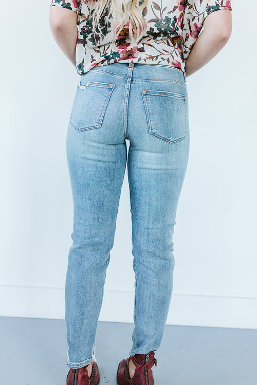 Light Wash Girlfriend Denim