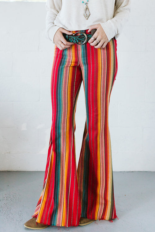 Serape Flare Pant - Red
