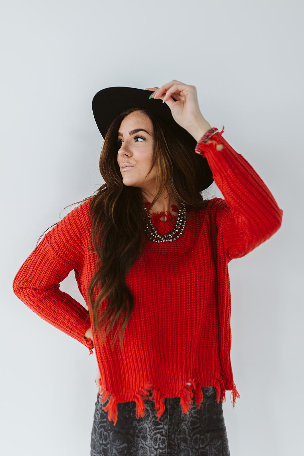 Wild Winds Sweater - Red