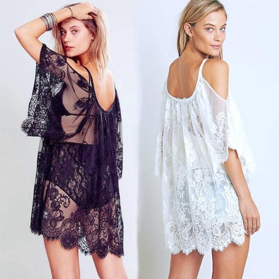 Embroidered Lace Beach Dress Tunic