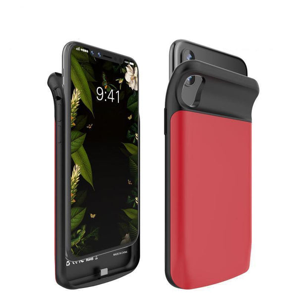 iPhone X Battery Charger Power Case red