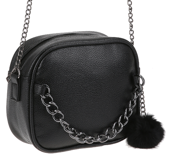 crossover purse with furball 1