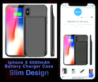iPhone X Battery Charger Power Case black