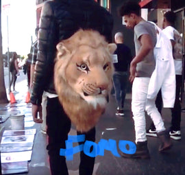 3D lion animal head backpack