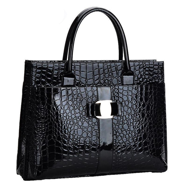 black crocodile bag