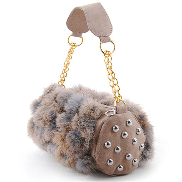 fur bag multicolored