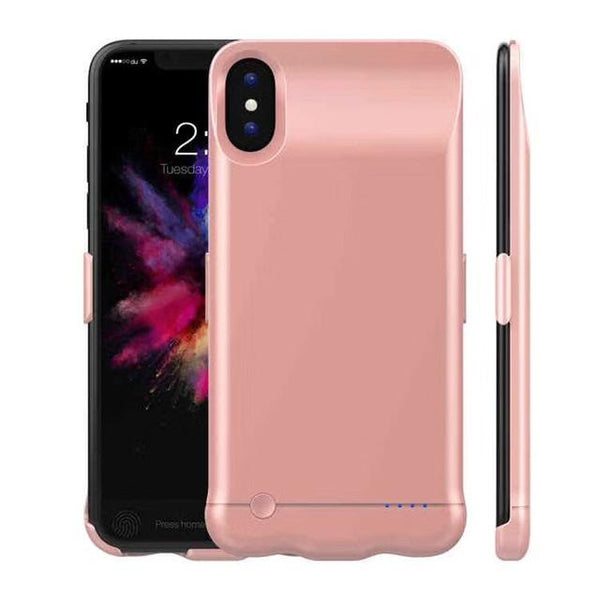 iPhone X Battery Charger Power Case rose gold