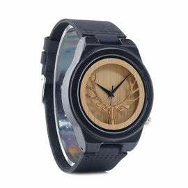 wooden handcrafted watch elk head design