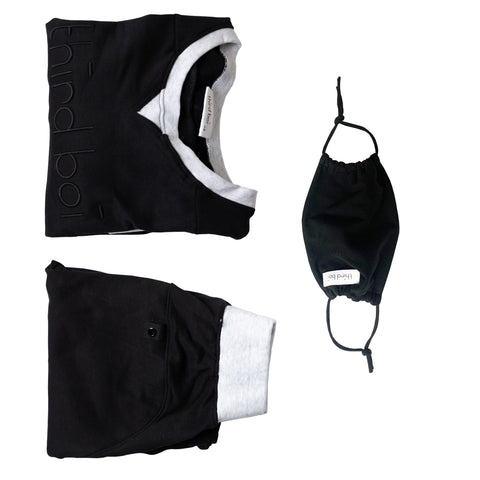 Tracksuit and Mask Bundle - Black