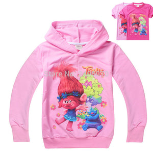 girls clothes Trolls Poppy Magic cartoon printed tee
