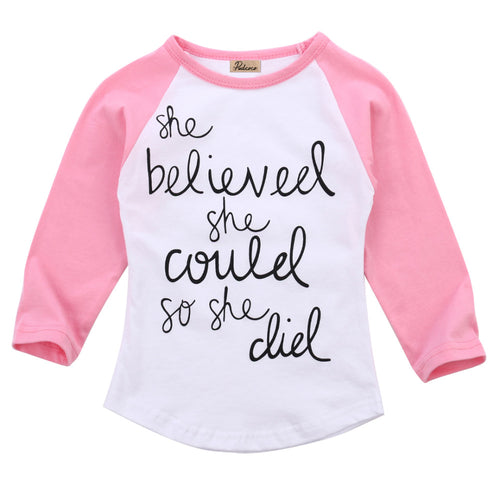 Fashion Toddler Kids letters printting T-Shirt