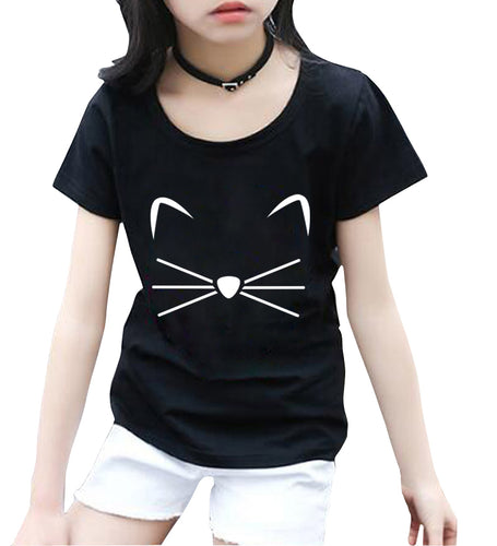 KITTY KITTEN Meow Print kids T shirt