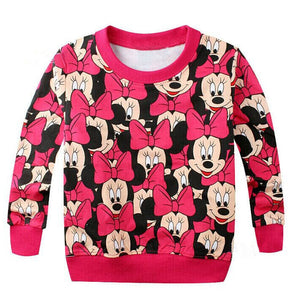 Hot baby girls boys cartoon mickey cotton printing t-shirts