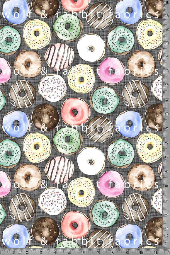 Donuts - Ash - Organic Cotton/Spandex Euro Knit Jersey