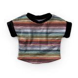 PREORDER - Neutral Pastel Stripes - Dark - Organic Cotton/Spandex Euro Knit Jersey