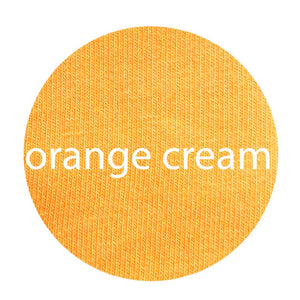Orange Cream - Organic Cotton/Spandex Euro Knit Jersey