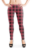 PREORDER - PLAID - Burgundy - Organic Cotton/Spandex Euro Knit Jersey