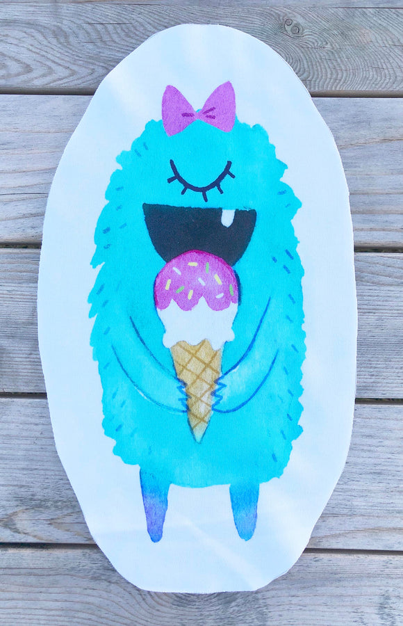 Ice Cream Monster - Aqua - Sew & Stuff Plushie