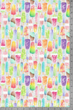 PREORDER - POPLIN - Popsicles - 100% Organic Cotton WOVEN Fabric