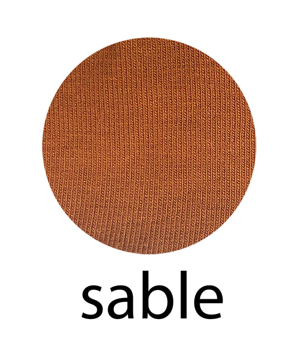 Sable - Organic Cotton/Spandex Euro Knit Jersey