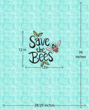 PANEL - Save the Bees - Organic Cotton/Spandex Euro Knit Jersey