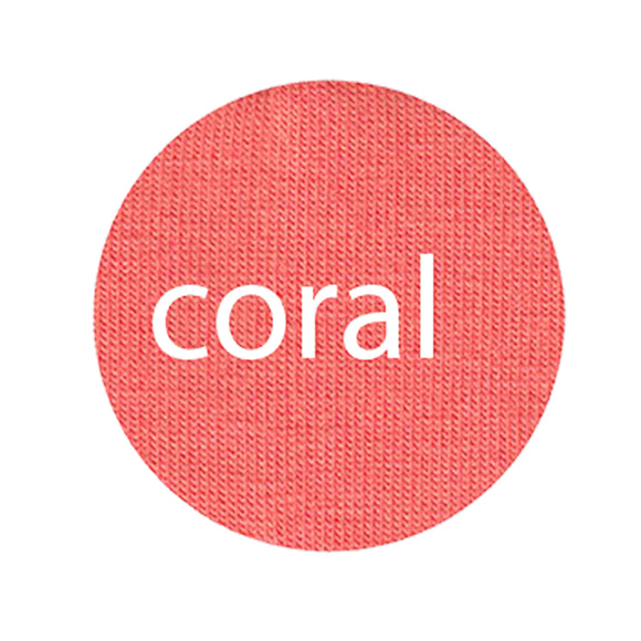 Coral - Organic Cotton/Spandex Euro Knit Jersey