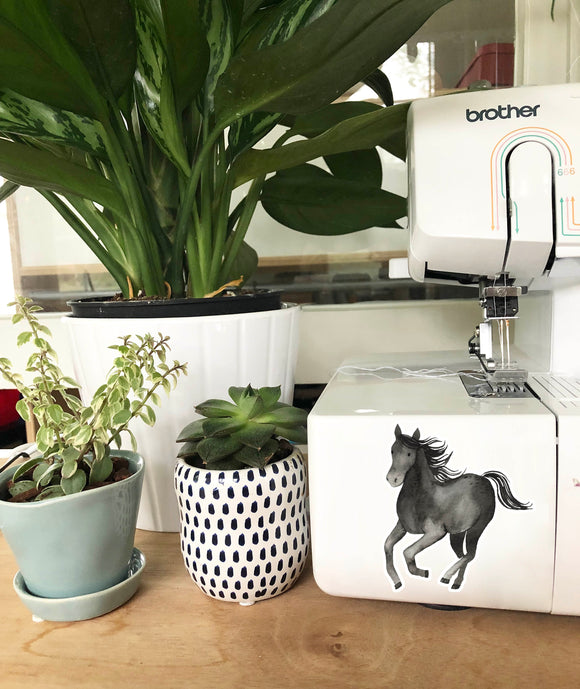 Vinyl Sticker - Black Horse