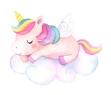 Vinyl Sticker - Sleepy Unicorn