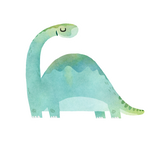 Vinyl Sticker - Mint Dino