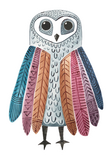 Vinyl Sticker - Grey Owl