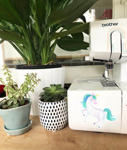 Vinyl Sticker - Aqua Unicorn