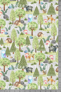 PREORDER - Woodland Animals - Organic Cotton/Spandex Euro Knit Jersey